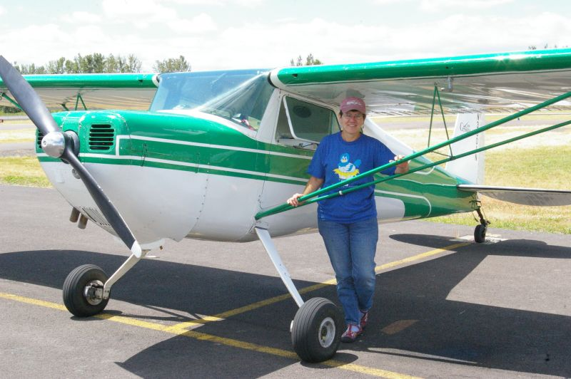 Bev Clark and her plane